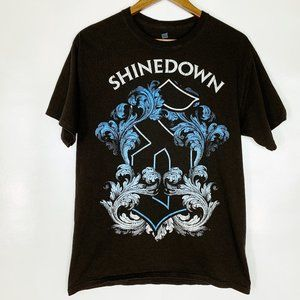 Shinedown 2013 Winter Tour T-Shirt Black Medium